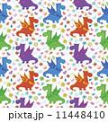 Seamless pattern, cartoon colorful Dragons 11448410