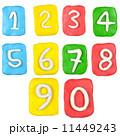 組み合わせ 数字 粘土の写真 11449243