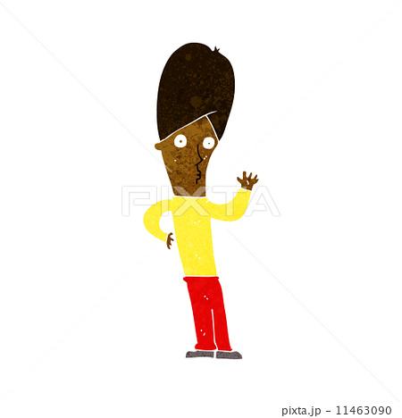 cartoon man wavingのイラスト素材 [11463090] - PIXTA