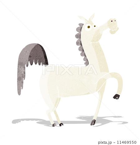 funny cartoon horseのイラスト素材 [11469550] - PIXTA