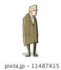 和らげられた キャラクター 文字のイラスト 11487415