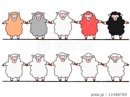 手をつなぐ羊たち 11488769