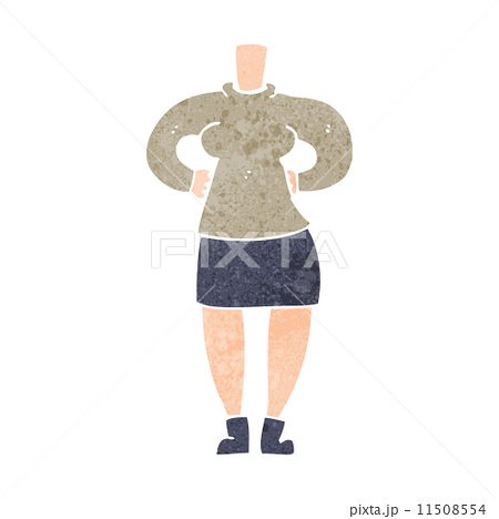 cartoon female body (add photos or mix and match cartoons)のイラスト素材 [11508554] - PIXTA