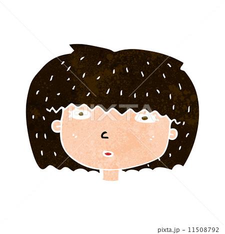 cartoon female faceのイラスト素材 [11508792] - PIXTA