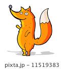 動物 きつね キツネのイラスト 11519383