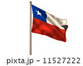 Digitally generated chile national flag 11527222