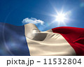 French national flag under sunny sky 11532804
