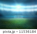 Football pitch with lights and goalpost 11536184