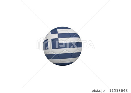 Football in greece coloursのイラスト素材 [11553648] - PIXTA