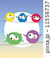 鳥 動物 配線のイラスト 11556737