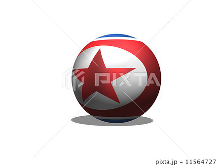 North Korea flag themes idea designのイラスト素材 [11564727] - PIXTA