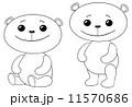 輪郭 絵 くまのイラスト 11570686