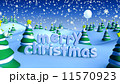 Merry Christmas in winter snow landscape 11570923