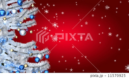 Christmas white tree on red background 11570925