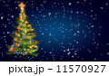 Christmas tree on blue background 11570927