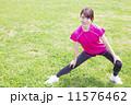 体操 若い女性 準備運動の写真 11576462