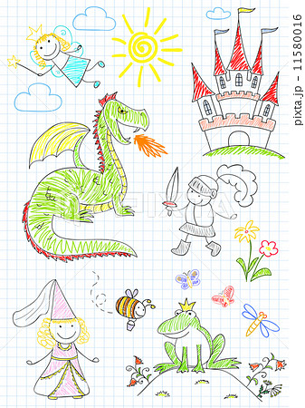 Vector sketches with characters of fairy-tales 11580016