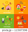 Circus retro icons composition 11587396
