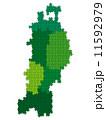 東北地方 ベクター 地図のイラスト 11592979