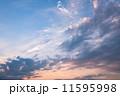 夕焼け 夕暮れ 雲の写真 11595998