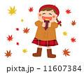 焼き芋をほうばる少女 食欲の秋 11607384