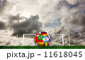 Composite image of football in multi national colours 11618045