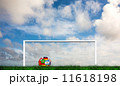 Composite image of football in multi national colours 11618198