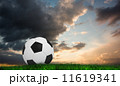 Composite image of black and white football 11619341
