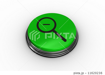 Composite image of magnifying glass graphic on button 11620236