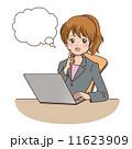考える ベクター パソコンのイラスト 11623909