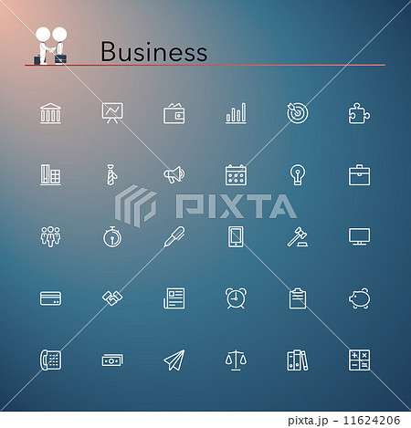 Business Line Icons 11624206
