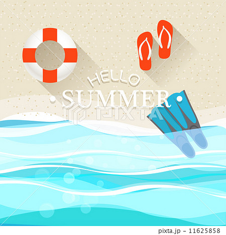 Summer seaside vacation illustrationのイラスト素材 [11625858] - PIXTA
