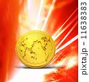 金貨 世界地図 通貨のイラスト 11638383