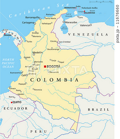 Colombia Political Map 11676660