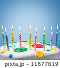 burning candles on a birthday cake 11677619