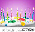 burning candles on a birthday cake 11677620