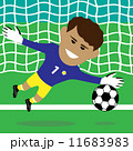 サッカー ゴールキーパー ベクトルのイラスト 11683983