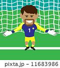 サッカー ゴールキーパー ベクトルのイラスト 11683986