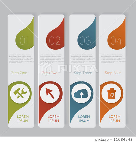 infographic design number banners template graphic or website