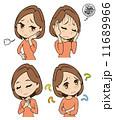 中年女性の感情セット 11689966