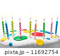 burning candles on a birthday cake 11692754