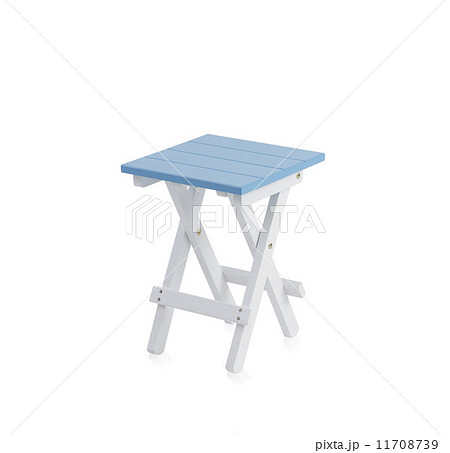 Small blue wooden chair の写真素材 [11708739] - PIXTA