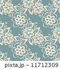 Seamless white lace on blue background 11712309