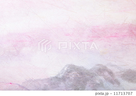 abstract Chinese painting (mountain landscape) on paper 11713707