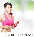 運動 聞く 女の写真 11714181