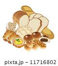パン屋 ベクター パンのイラスト 11716802