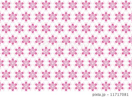 模様 雪の結晶 ストロベリーカラー 11717081