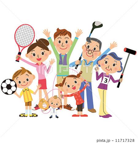 家族でスポーツ 11717328