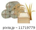 米&稲穂&米俵 11719779
