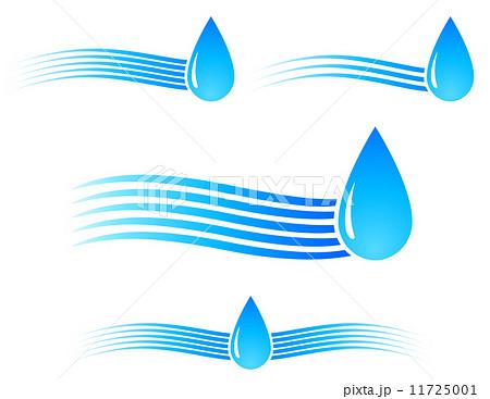water drop with waveのイラスト素材 [11725001] - PIXTA